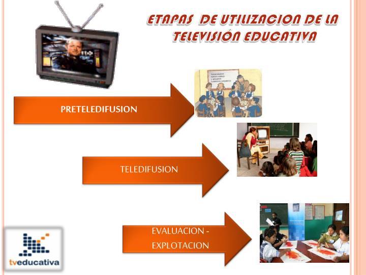 ETAPAS  DE UTILIZACION DE LA