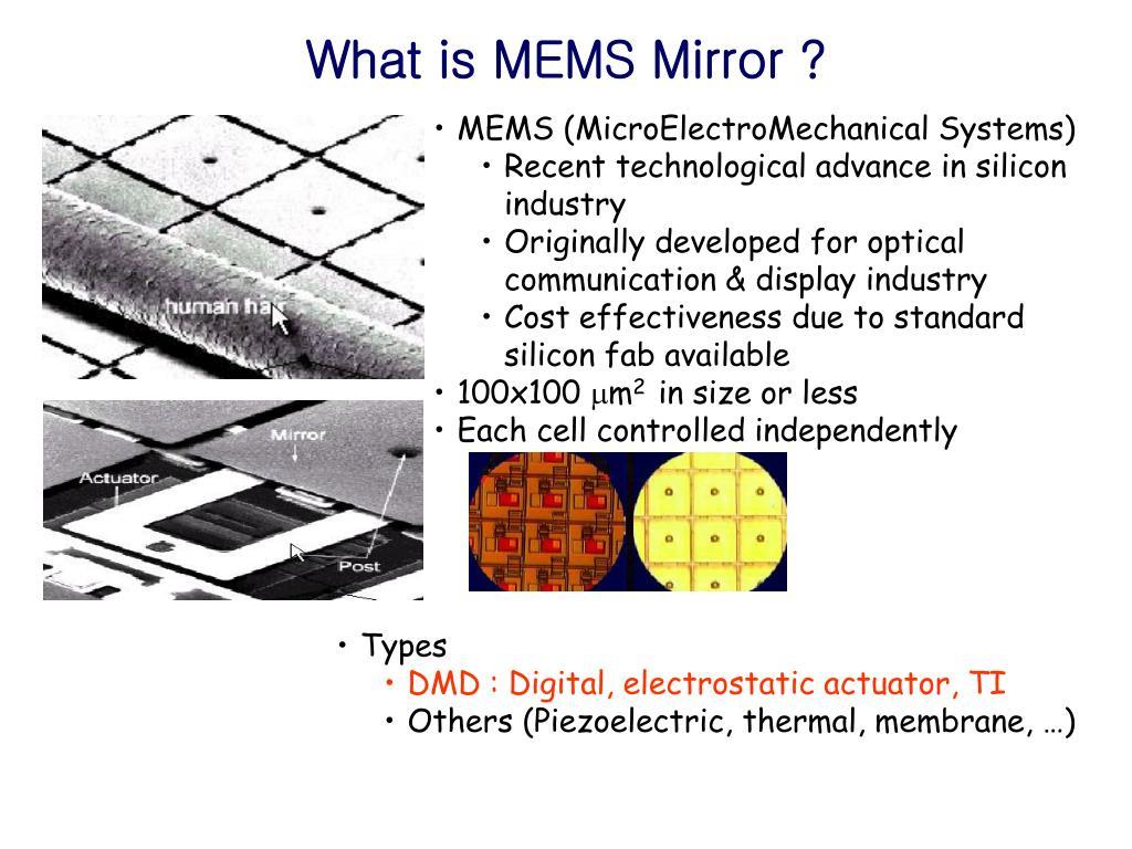 PPT - SiPM R&D and MEMS Telescope PowerPoint Presentation - ID:4640620