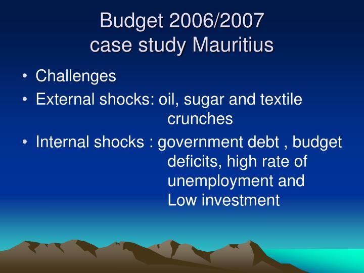 Budget 2006/2007