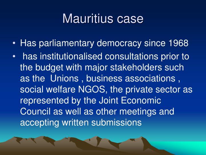 Mauritius case
