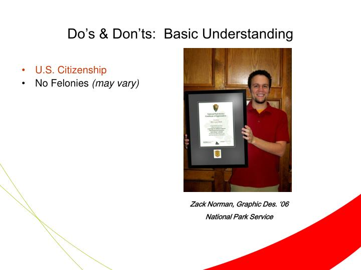 Do's & Don'ts:  Basic Understanding