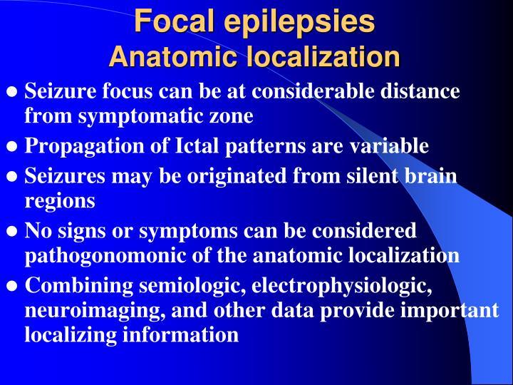 Focal epilepsies