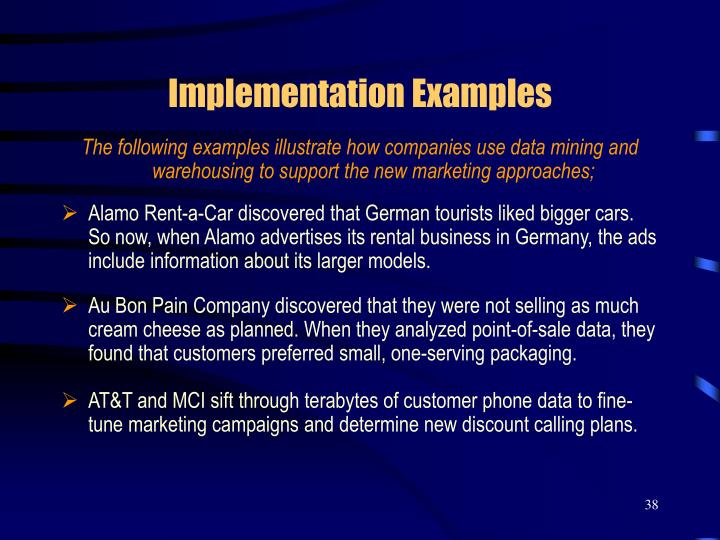 advertisement implementation examples