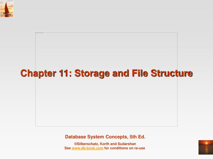 Chapter 11 storage and file structure