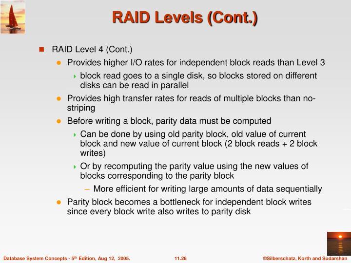 RAID Levels (Cont.)
