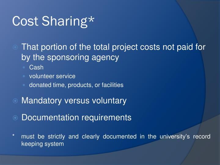 Cost Sharing*