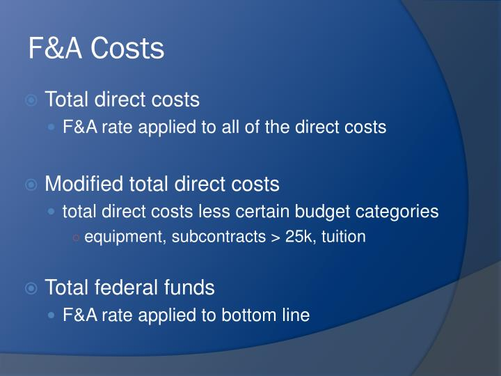 F&A Costs