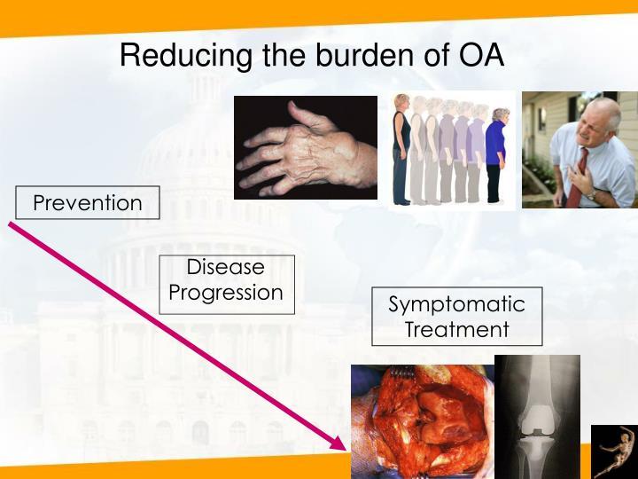 Reducing the burden of OA