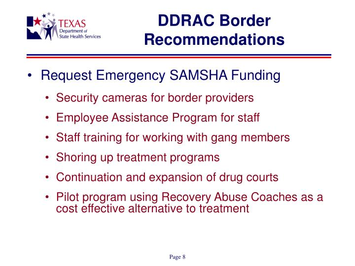 DDRAC Border Recommendations