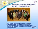 european group on ethics in science and new technologies ege1