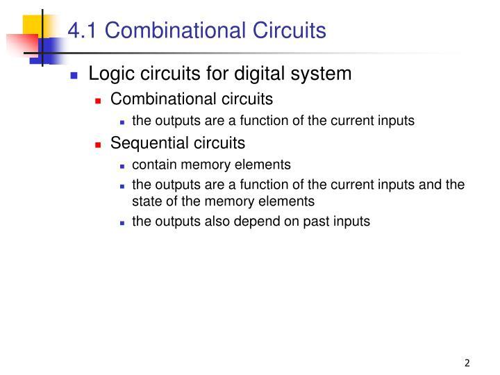 4 1 combinational circuits