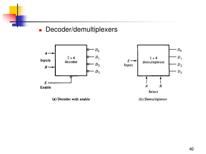 Decoder/demultiplexers