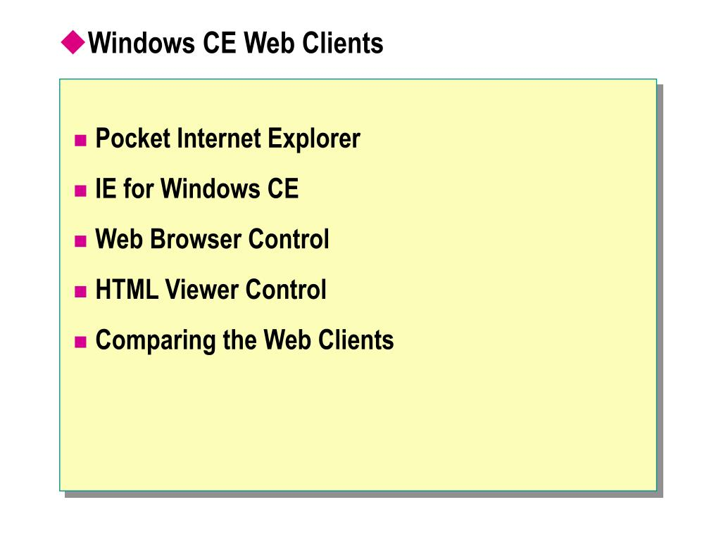PPT - Module 8: Connecting Network-Enabled Windows CE
