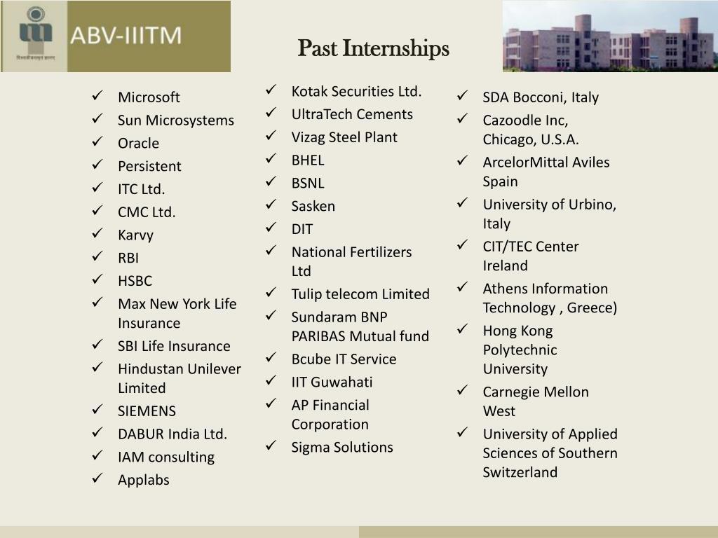 PPT - Welcome Atal Bihari Vajpayee- Indian Institute of