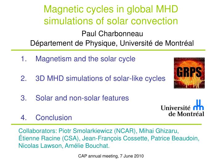 Magnetic cycles in global MHD simulations of solar convection