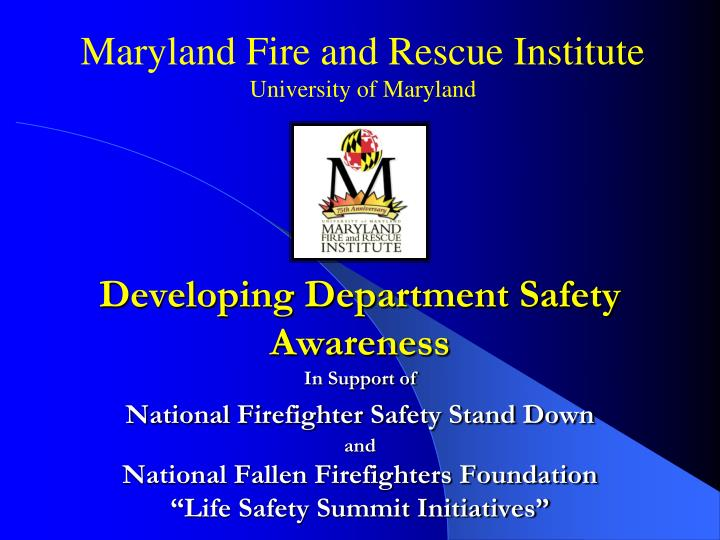 maryland fire and rescue institute university of maryland n.