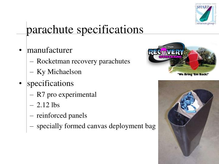 parachute specifications