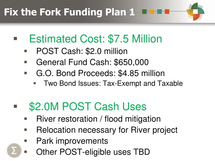 Fix the Fork Funding Plan 1