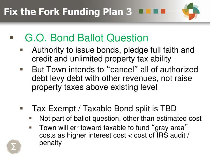 Fix the Fork Funding Plan 3