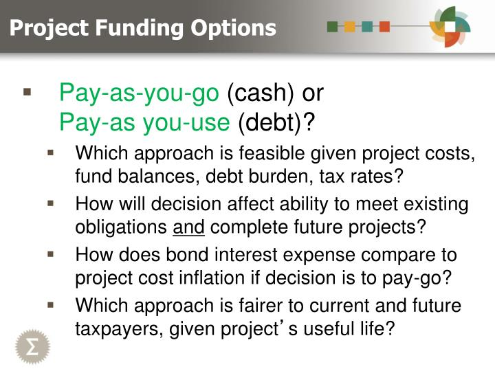 Project funding options