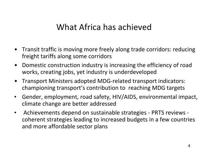 What Africa has achieved