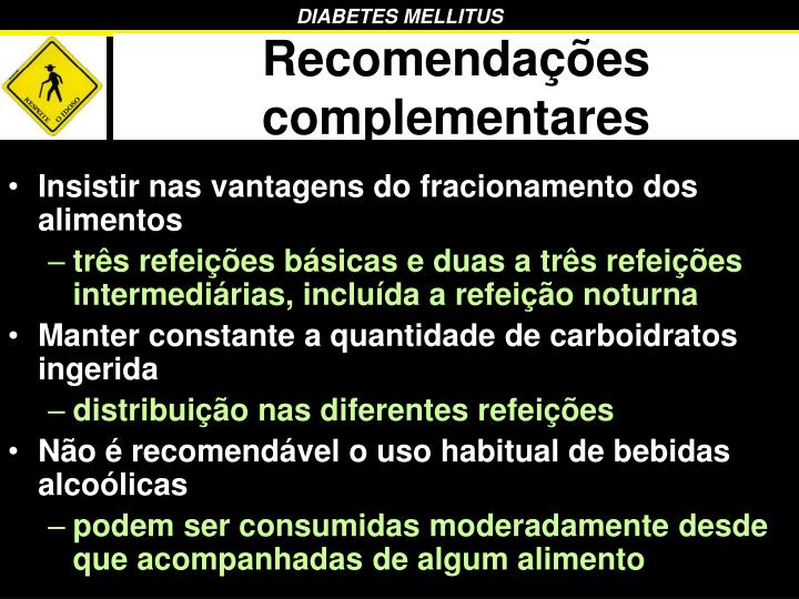Recomendações complementares