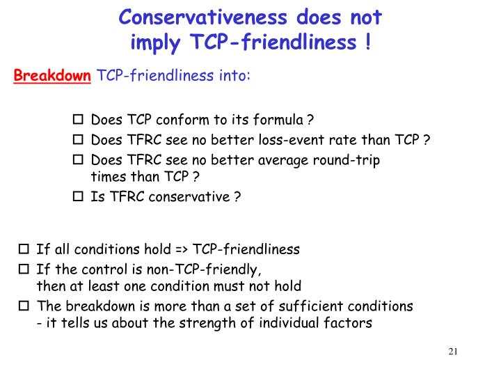 Conservativeness does not