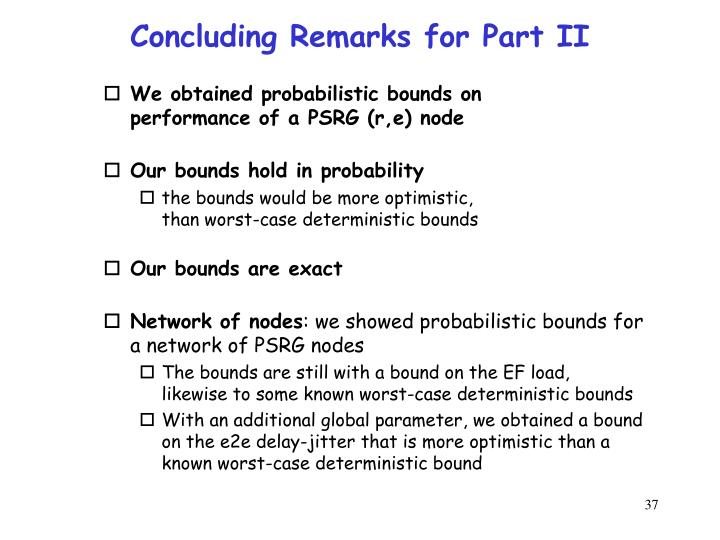 Concluding Remarks for Part II