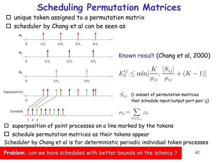 Scheduling Permutation Matrices