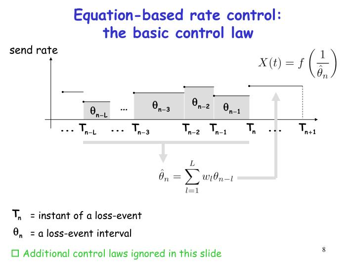 Equation-based rate control: