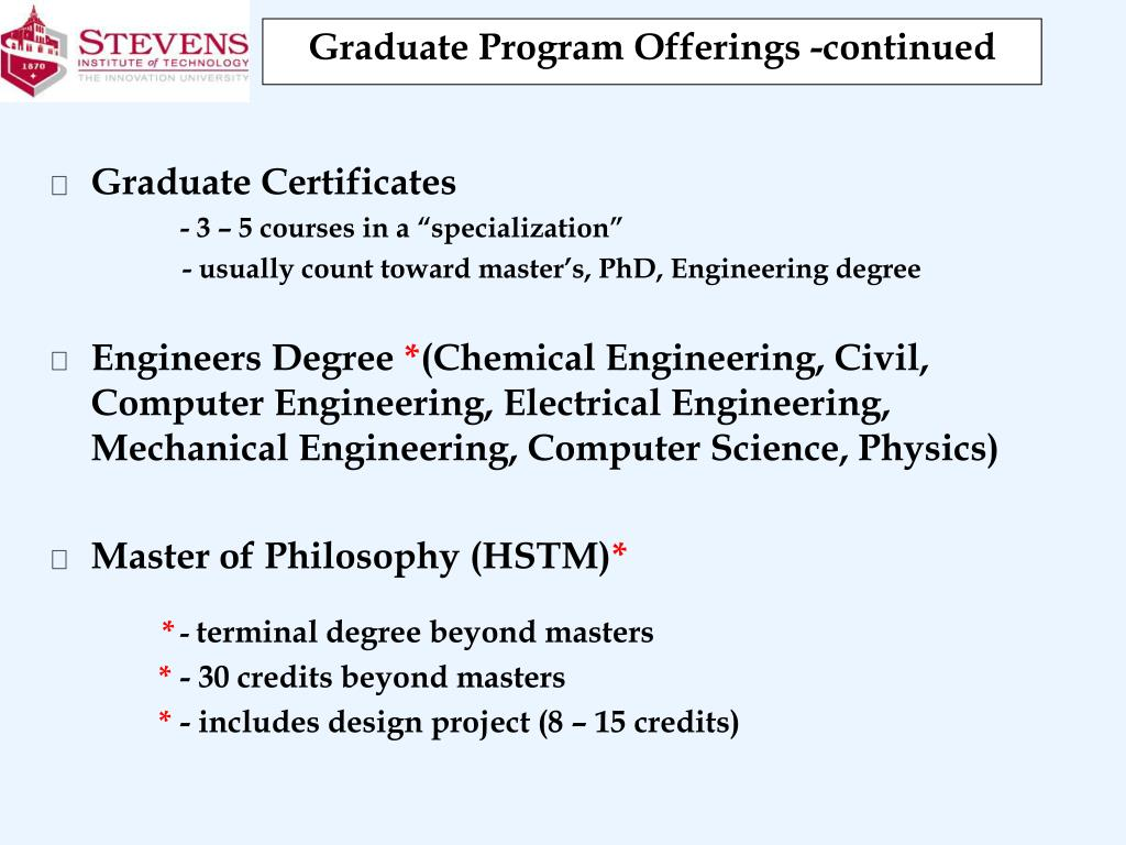 PPT - Overview of Stevens Institute of Technology George P