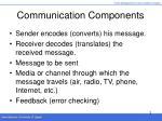 communication components