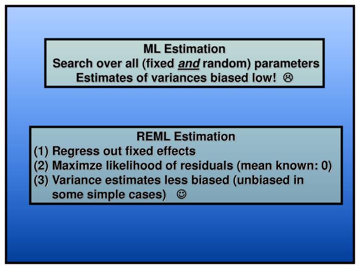 ML Estimation