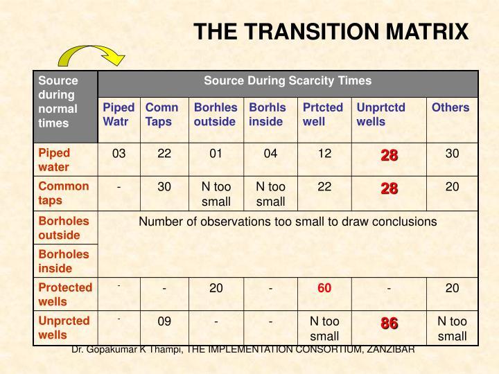 THE TRANSITION MATRIX