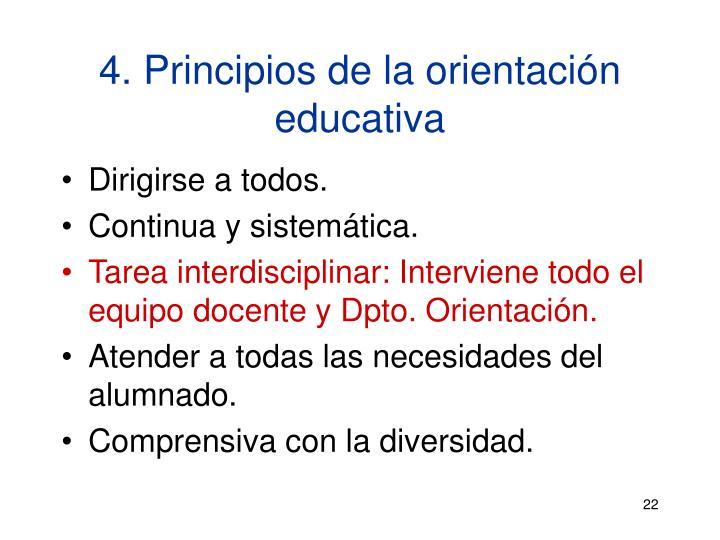 4. Principios de la orientación educativa