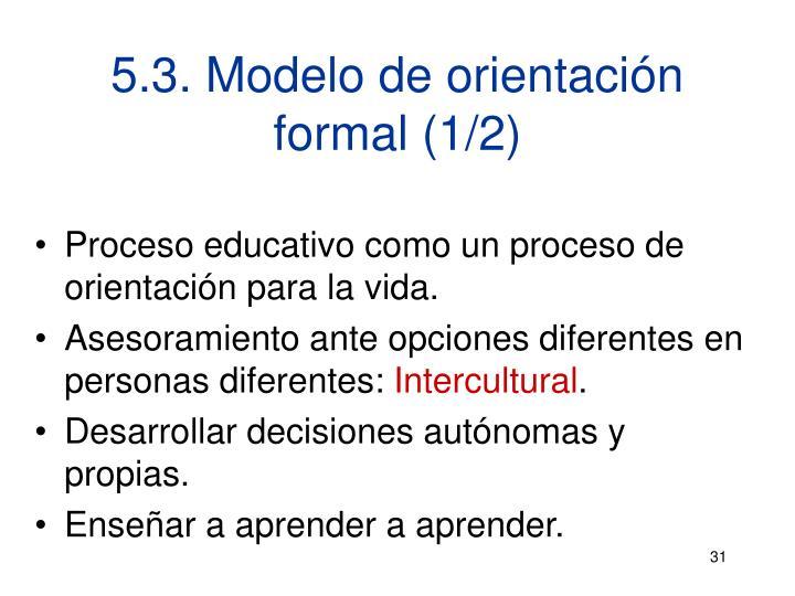 5.3. Modelo de orientación formal (1/2)