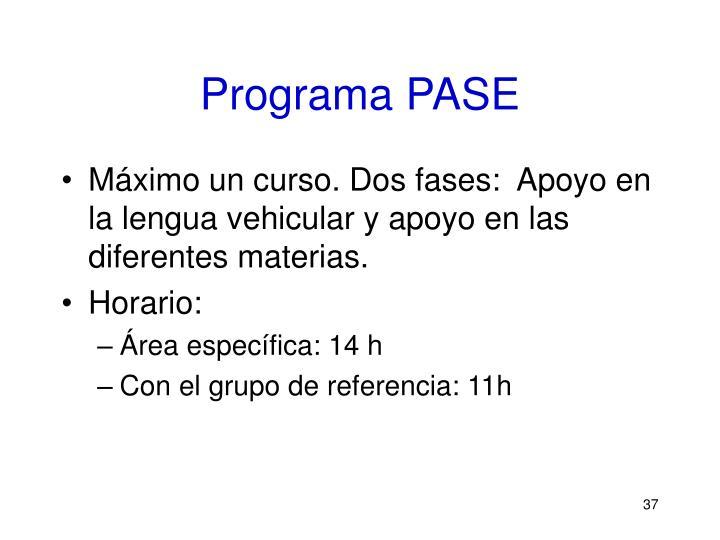 Programa PASE
