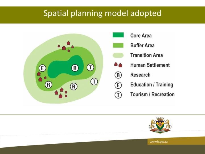 Spatial planning model adopted