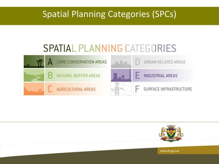 Spatial Planning Categories (SPCs)