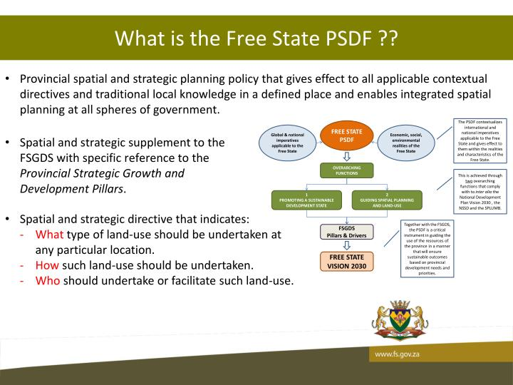 What is the Free State PSDF ??