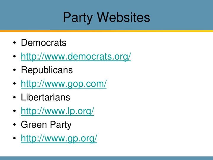 Party Websites