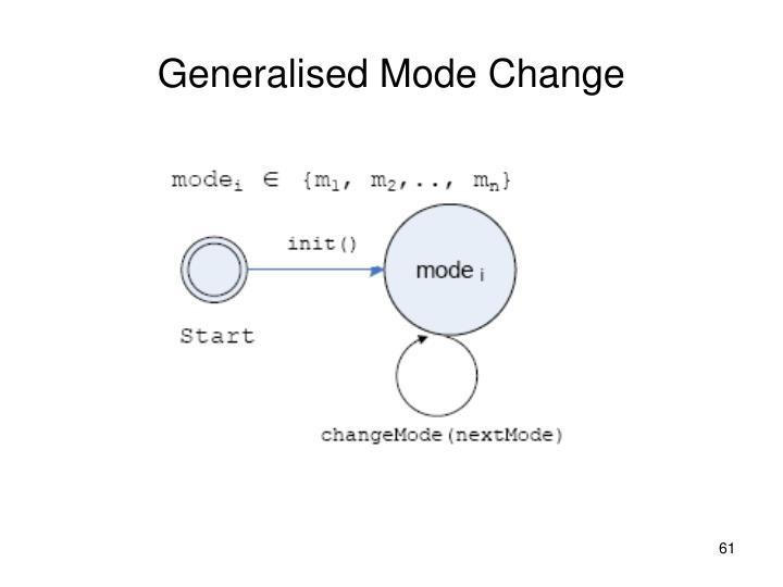 Generalised Mode Change