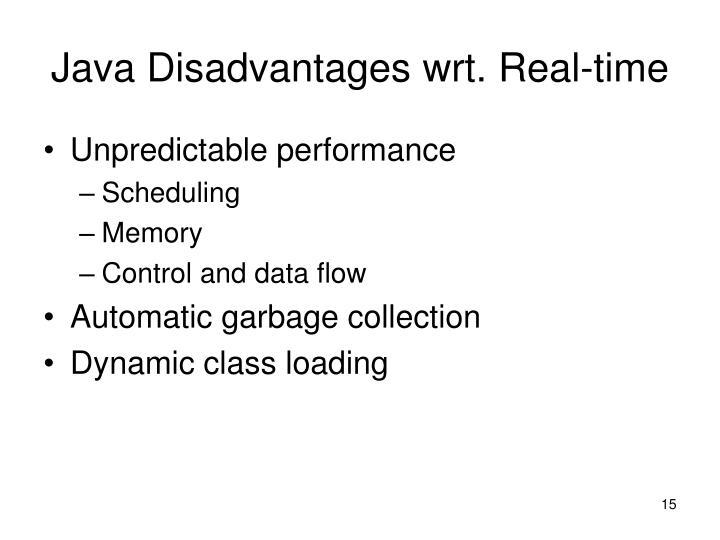 Java Disadvantages wrt. Real-time