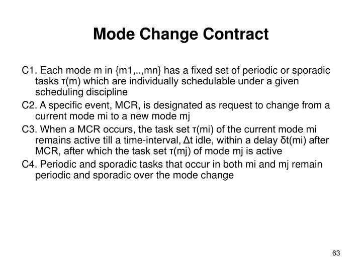 Mode Change Contract