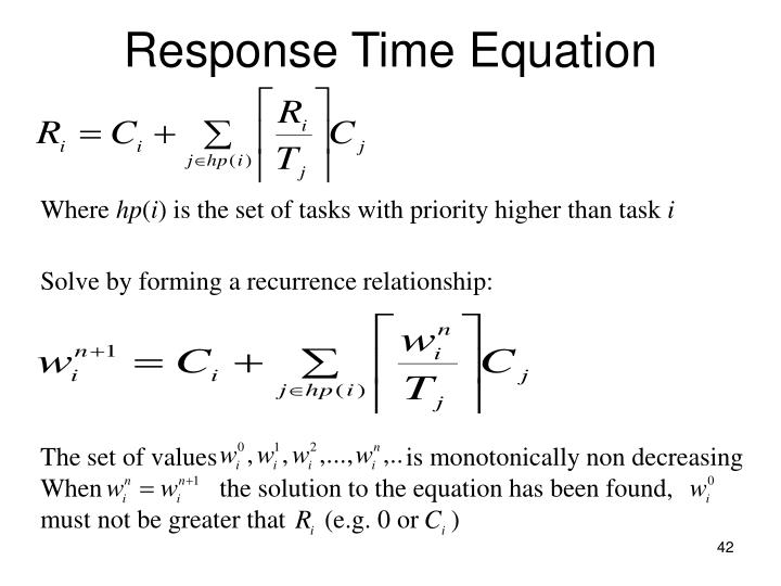 Solve by forming a recurrence relationship: