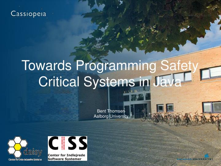 Towards programming safety critical systems in java