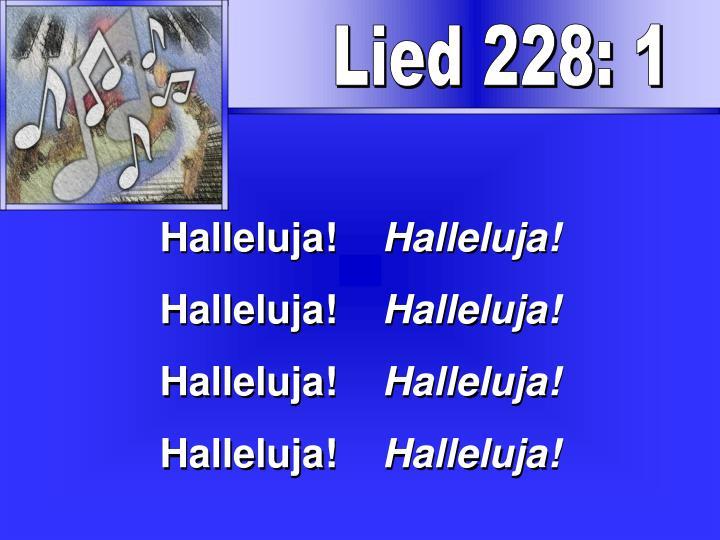 Lied 228: 1