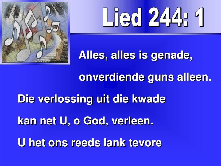 Lied 244: 1