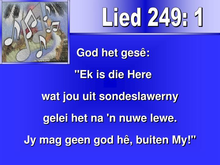 Lied 249: 1