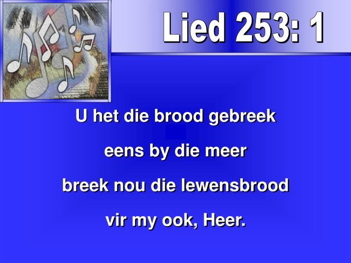 Lied 253: 1